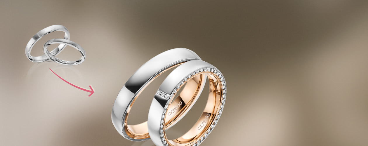 Various wedding rings from acredo